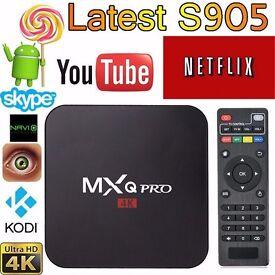 ANDROID MXQ PRO 4K KODI, MOBDRO, SHOWBOX, NETFLIX, BRAND NEW