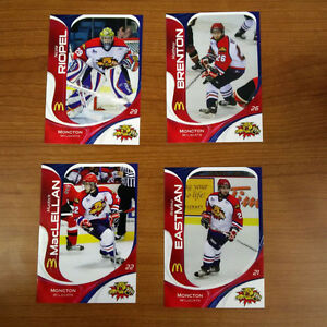 37 unopened packs of MONCTON WILDCATS hockey cards