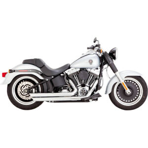 VANCE AND HINES BIG SHOTS STAGGERED - SOFTAIL, CHROME