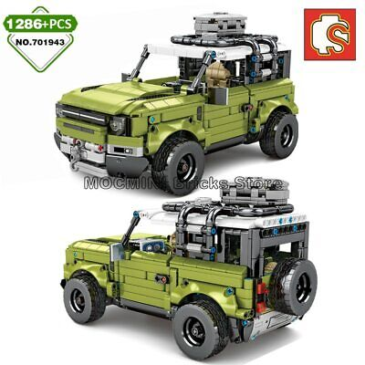 1286 PCS 1:10 MOC Land Rover Defender Car Technic Building Blocks Toy Brick Set