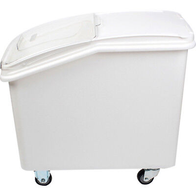 Coomerical Ingredient Bin 27 Gallon Mobile Food Storage Clear Lid Casters