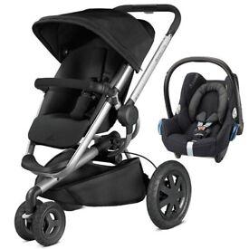 Pushchair \ Pram by Quinny - Buzz Xtra Single Seat Pram with Maxi Cosi Cabriofit car seat
