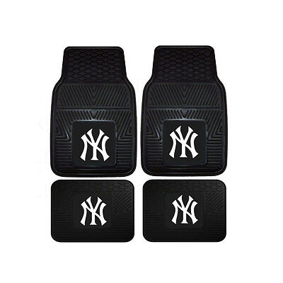 New Mlb New York Yankees Car Truck Front Back Rubber All Weather Floor Mats
