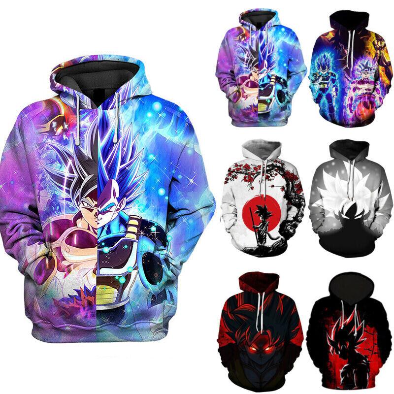 Mens Womens Dragon Ball Z 3D Printed Hoodies Sweatshirt Pull