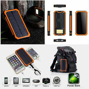 100000mAh Portable Waterproof Solar USB Charger Power Bank For Mobile phone UK