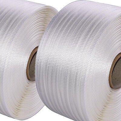 2 Rollen 19mm Textilband gewebt Textil-Umreifungsband * auch zum Holz bündeln