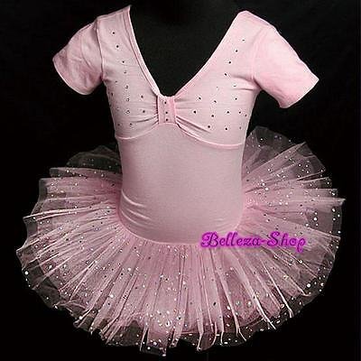 Rhinestone Ballerina Ballet Tutu Dancing Dress Up Pink Kid Girl Size 6-7 BA003 - Ballerina Dress Up Clothes