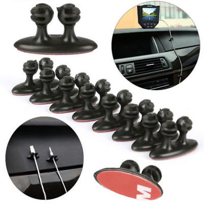 8x Car Auto Line Cable Clamps Cord Organizer Dash Console Holder For BMW BENZ VW Billet Lower Dash