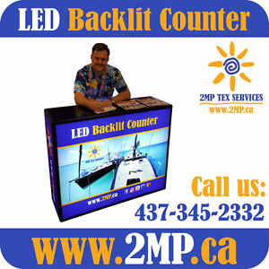 LED Backlit Counter Light Box + Double-Sided Fabric Graphics