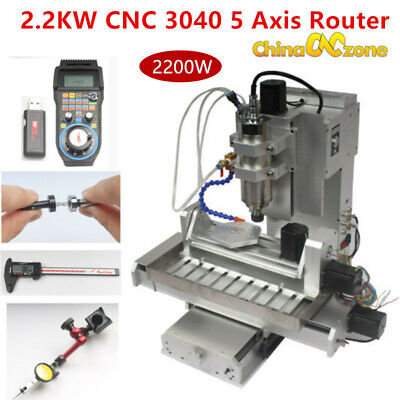 2.2kw Cnc Router 3040 5axis Engraving Carving Machine Cnc Metal Milling Machine