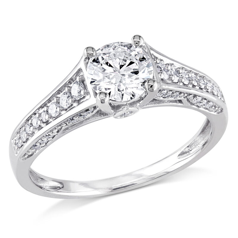 Amour 1 CT TW Diamond Engagement Ring in 14k White Gold