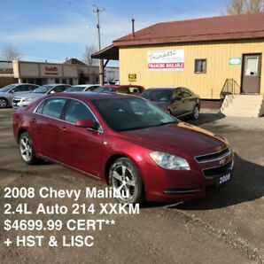 2008 Chevy Malibu LOADED 2.4L $4699.99 CERTIFIED DONT MISS