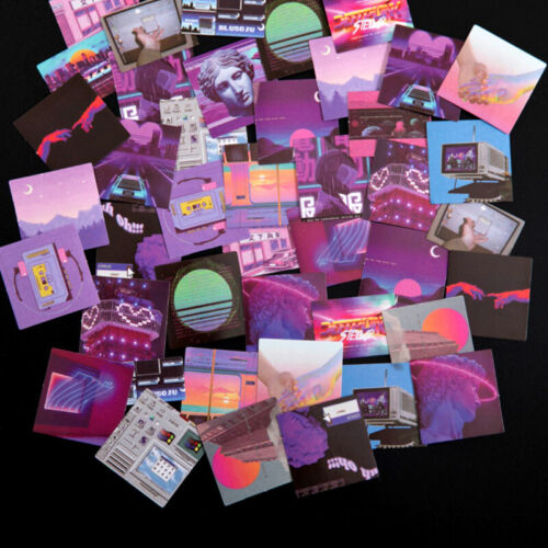 Purple Aesthetic Bullet Journal Decorative Diary Scrapbooking Stickers 45pcs