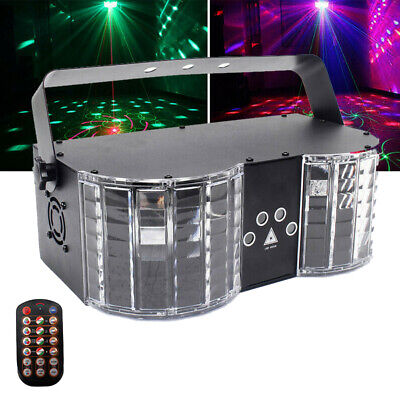 Stage Lighting Projector DMX Laser Beam Disco DJ Party Dual LED Sound Active