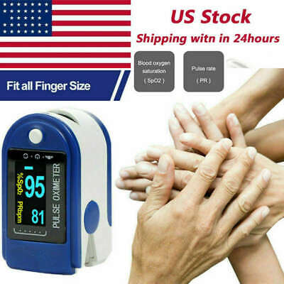 Oled Fingertip Pulse Oximeter Blood Oxygen Spo2 Heart Rate Patient Monitor Ce