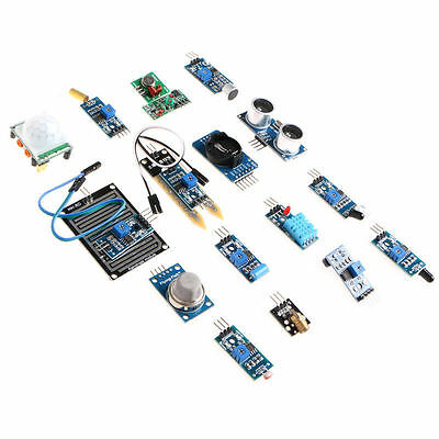 New 16pcs/lot Sensor Module Board Kit for Arduino Raspberry Pi 3/2 Model B