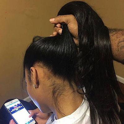 8A  Lace 100% Human Hair Wig Women  Brazilian Glueless Full Wigs straight