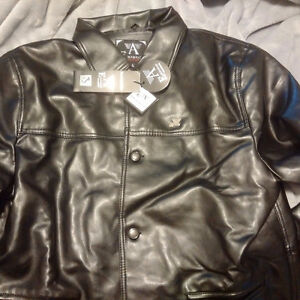 Emporio Armani Classic Leather Jacket -New / Never Worn /Replica Cambridge Kitchener Area image 3