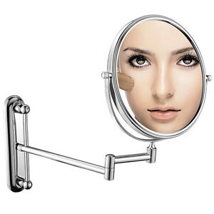 """10x Magnification Adjustable  8"""" Round Wall Mount Mirror"""