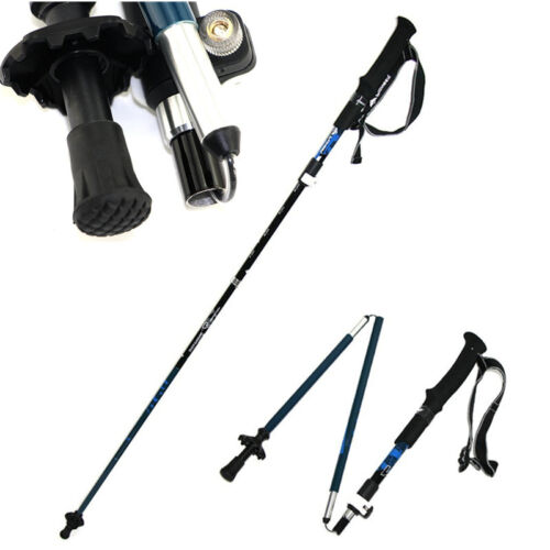 1PC Tri-Fold Carbon Fiber Hiking Climbing Camping Trekking Poles Sticks Canes Camping & Hiking