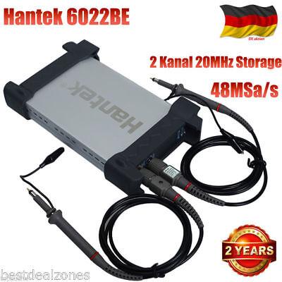 Hantek 6022BE PC USB Digital Oszilloskop 2 Kanal 20MHz Storage Oscilloscope 2CH