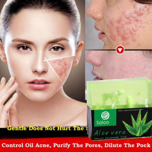 Face Soap Aloe Essence Facial Cleaning Skin Care Bath Body Removal Oil Beauty