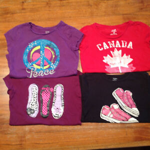 Girl's tops t shirts size 10