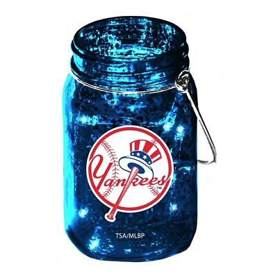 NEW YORK YANKEES LED LIGHTED MASON JAR LANTERN 5.5