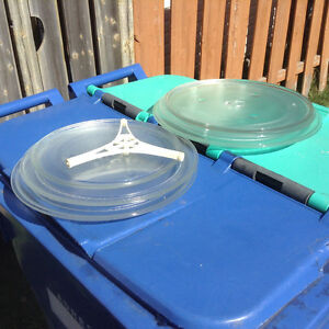 6 microwaves turntable glass plate of different sizes