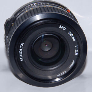 Minolta mount manual lens with adapter work for Sony E