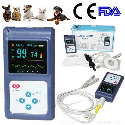 Cms60d Veterinary Pulse Oximeter Handheld Spo2 Pr Monitor Vet Tongue Probepc Sw