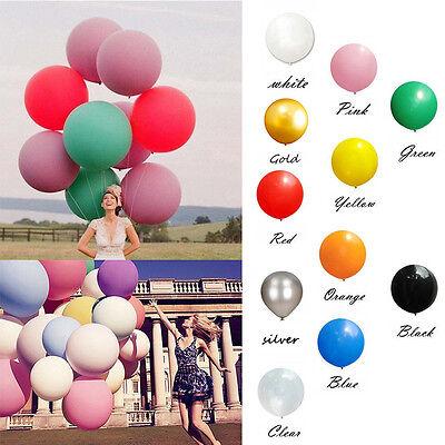 2 stücke 36 zoll 90 CM Große Latex Party Riesige Luftballon Weihnachtsdekoration ()