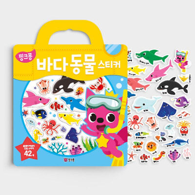 [PINKFONG] Pinkfong Sea Animals Stickers Book For Kids Gift Educational Toy