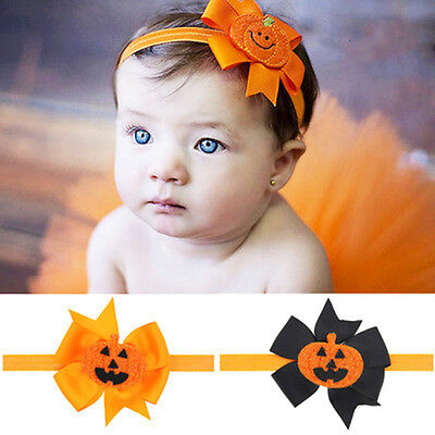 Toddler baby Halloween cute Pumpkin Headband Costume Party Hair Band Headwear UK - Halloween Hair Accessories Uk