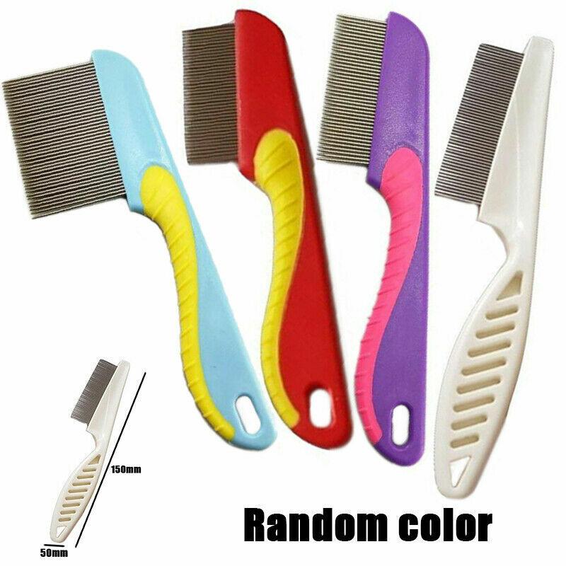 Stainless Steel Hair Lice Comb Brush Remove Lice Ticks Kids Nit Peine De Piojos