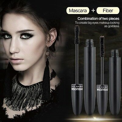 Long Curling Makeup 3D Fiber Eyelash Black Waterproof Fiber Mascara Eye Lashes