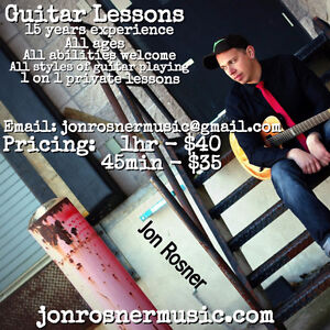 GUITAR LESSONS English/French (Experienced Teacher)