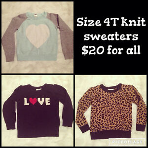Size 4T knit sweaters