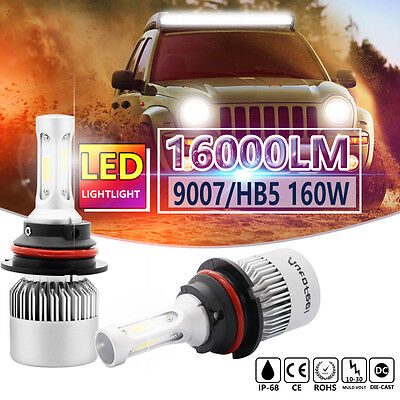 PHILIPS 9007 HB5 160W 16000LM LED Headlight Kit White Light Bulbs Hi-Low Beam