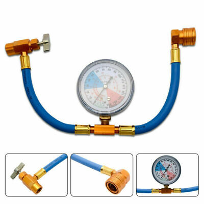 R134A Car Air Conditioning Recharge Measuring Hose Gauge Valve Refrigerant Pipe