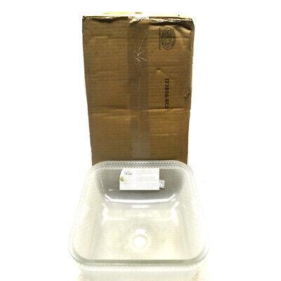 """NEW JSG Oceana Glass Undermount Kitchen Sink 14-1/2"""" x 14-1/2"""" x 4-1/2"""""""
