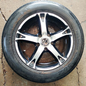 4 mags RTX 15'' + pneus d'été (195-65-15) ,  Bolt Pattern : 5x11