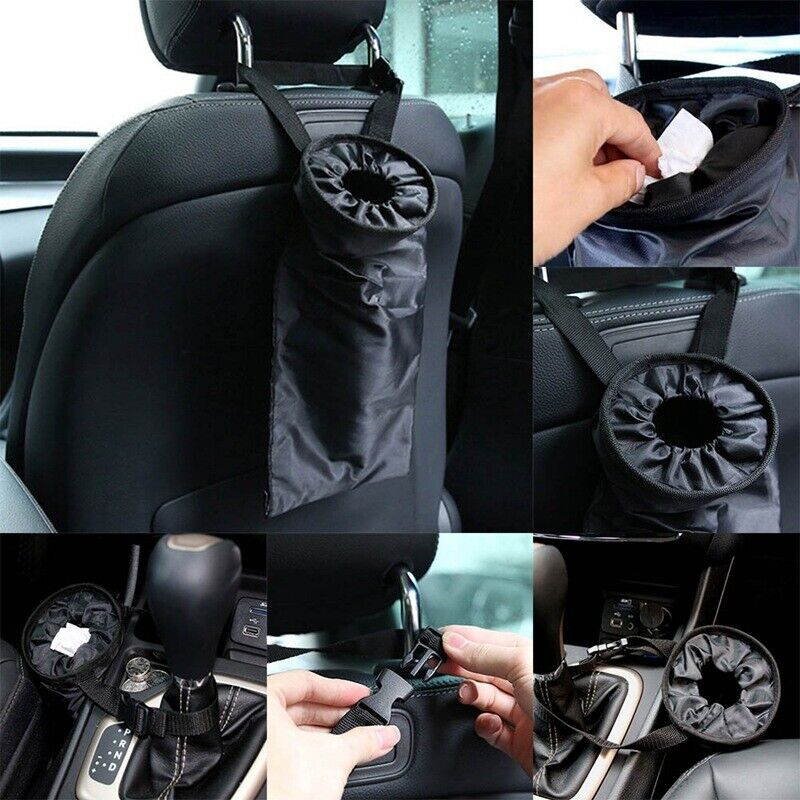 50pcs Car Garbage Bag Traveling Portable Auto Seat Back Hanging Paste Trash Bag