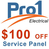 Pro1 Electrical - $100** off Service Panel Upgrade for September
