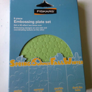 FISKARS 8 pc Embossing Plate Set - FOUR SEASONS - $18