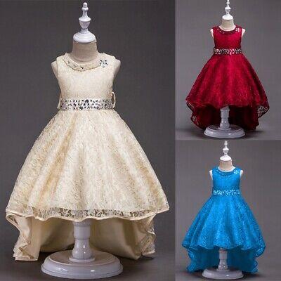 Kinder Baby Mädchen Party Bogen Kleid Blume Hochzeit Brautjungfer Abend Kleider ()