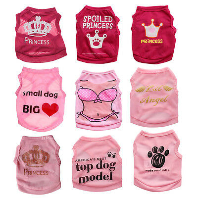 Cute Teacup Dog Clothes Girl Dog T shirt Pet Puppy Vest for Chihuahua yorkie Dog](Cute Clothes For Girls)