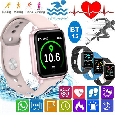 Touch Smart Watch Women Men Heart Rate Bracelet For iPhone Android Waterproof