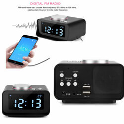 Digital LCD FM Alarm Clock Radio/USB Charger Dual Charging Ports Home Travel