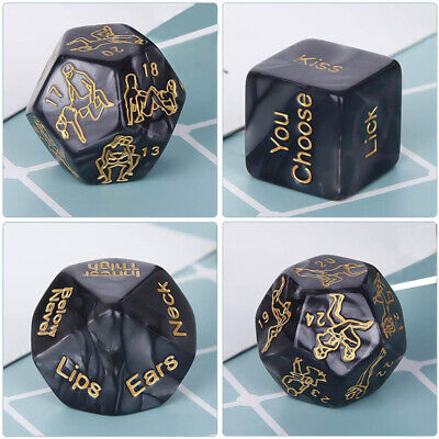 Pack 4 Couples Adult Love Dice Sex Position Dice Game Couples Foreplay Prop Toy - Adults Games